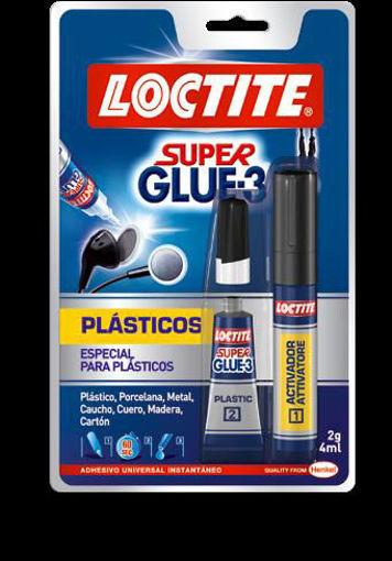 Imagen de SUPER GLUE-3 PLASTICOS 2GR